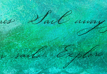 Grander than the Sea, 22 x 28 Calligraphy Painting on Paper SALE