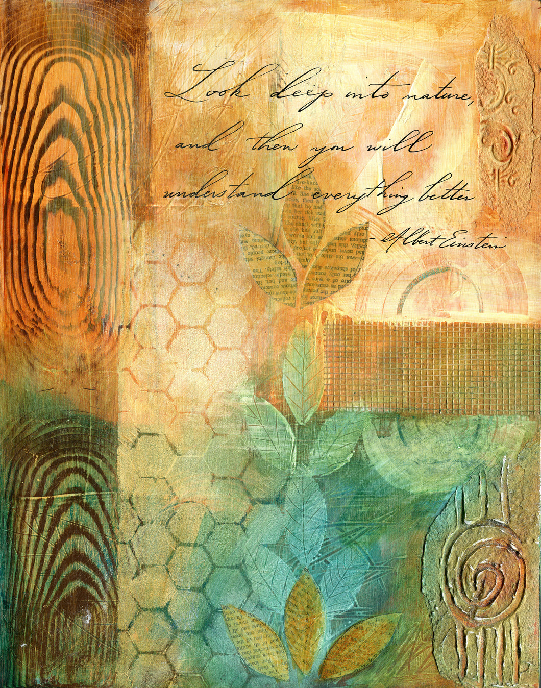 Calligraphy Painting - Texture of Nature II -  11 x 14 SALE
