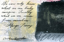 1 Postcard - Marge Piercy - Truly Imagine - Hand Painted with Calligraphy