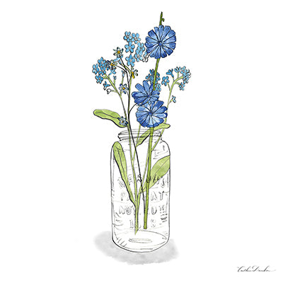 Wildflowers Mason Jar I Print