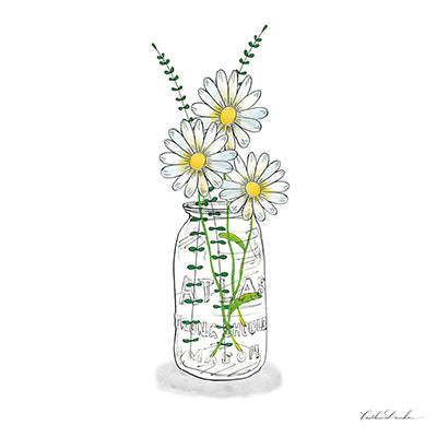 Wildflowers Mason Jar II Print