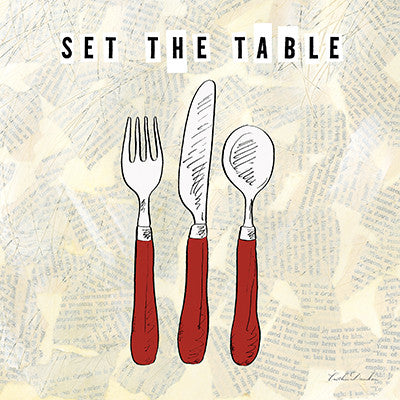 Kitchen Utensils III - Set the Table - Table Setting Print