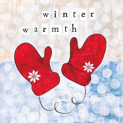Holiday Winter Wonderland I - Winter Warmth - Mittens Print SALE