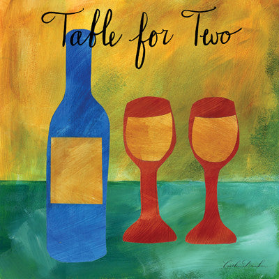 Wine for Two I - Table for Two Wine Print