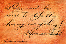 1 Postcard - Maurice Sendak - More to Life - Hand Painted with Calligraphy