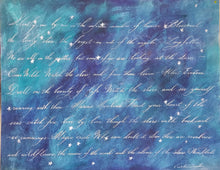 Silence of the Stars, 22 x 28 Calligraphy Painting on Paper SALE