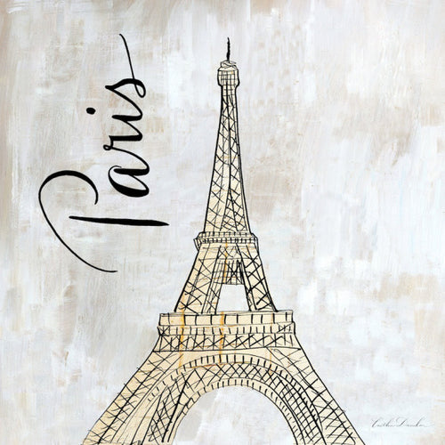 Travel Icon Paris - Pen and Ink Sketch Print