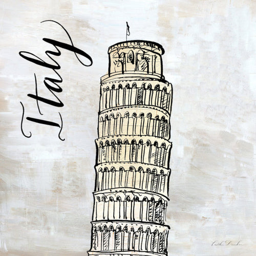 Travel Icon Italy - Pen and Ink Sketch Print