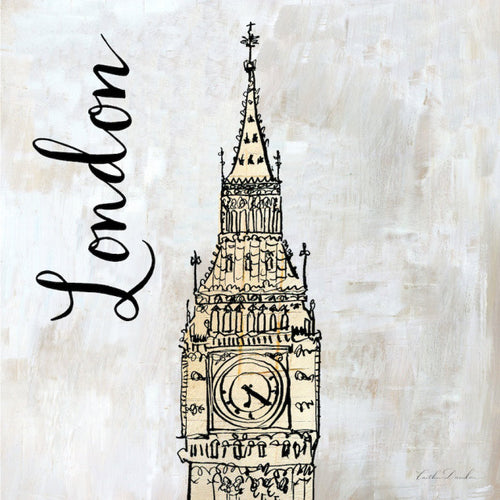 Travel Icon London - Pen and Ink Sketch Print