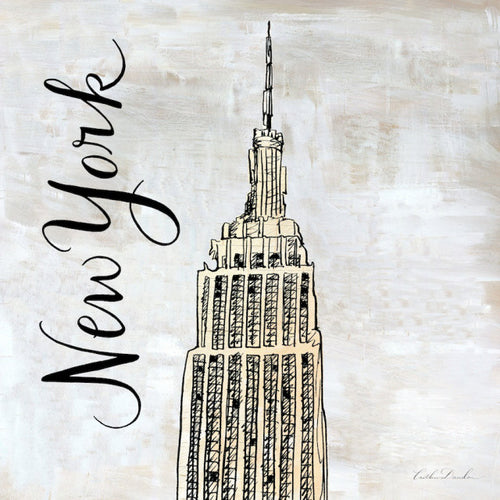Travel Icon New York - Pen and Ink Sketch Print