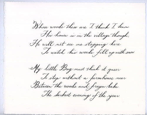 Custom Calligraphy on Paper 8 x 10
