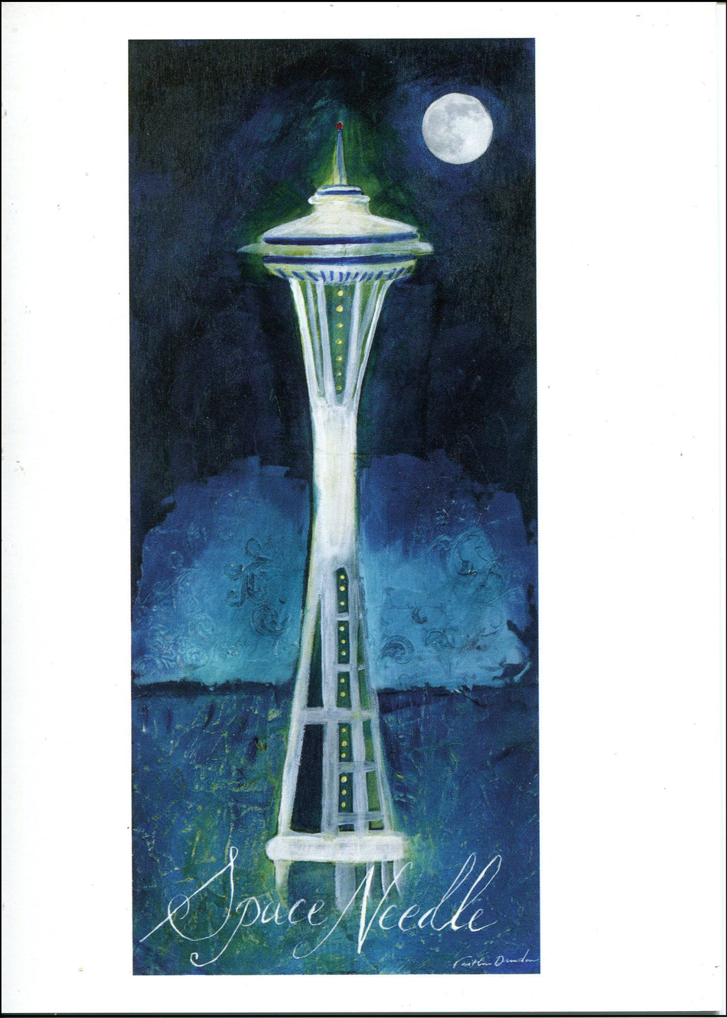 Set of 10 5x7 Greeting Cards - Seattle Space Needle SALE