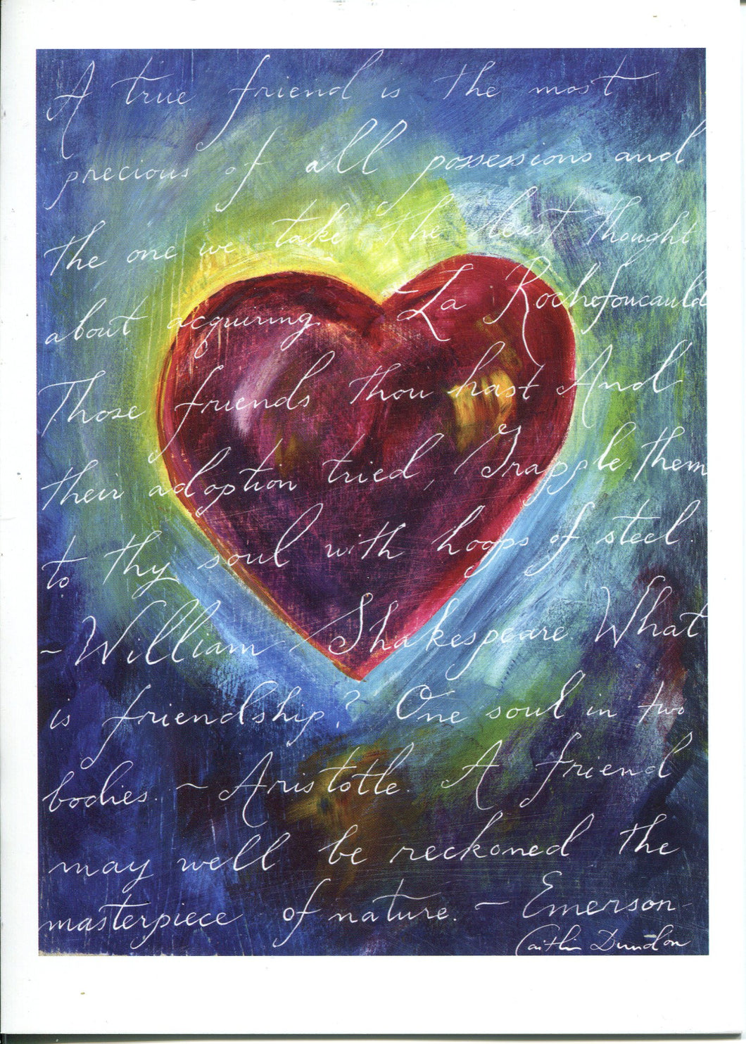 Set of 10 5x7 Greeting Cards - Friendship Heart SALE