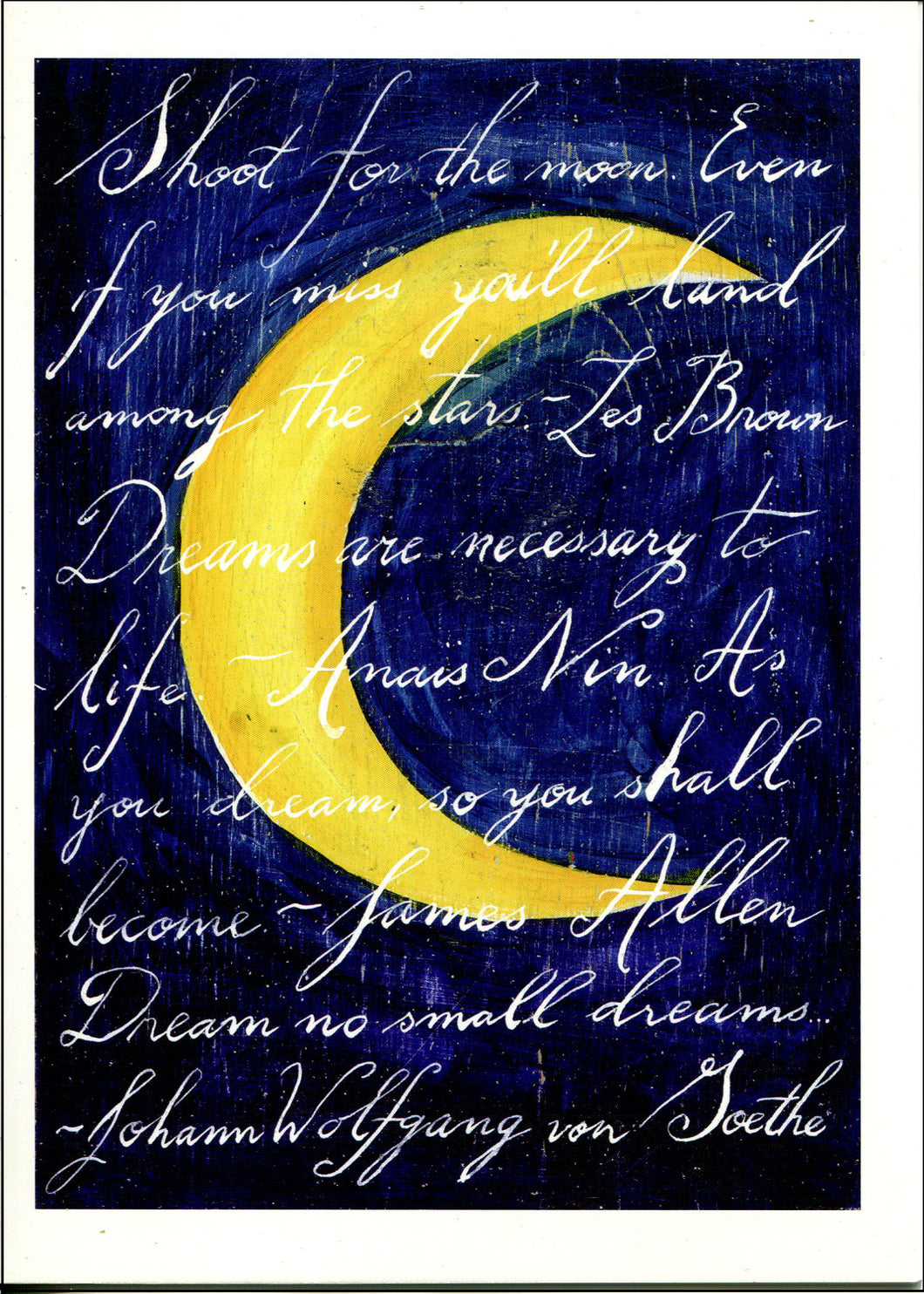 Artist Greeting Cards - Shoot for the Moon