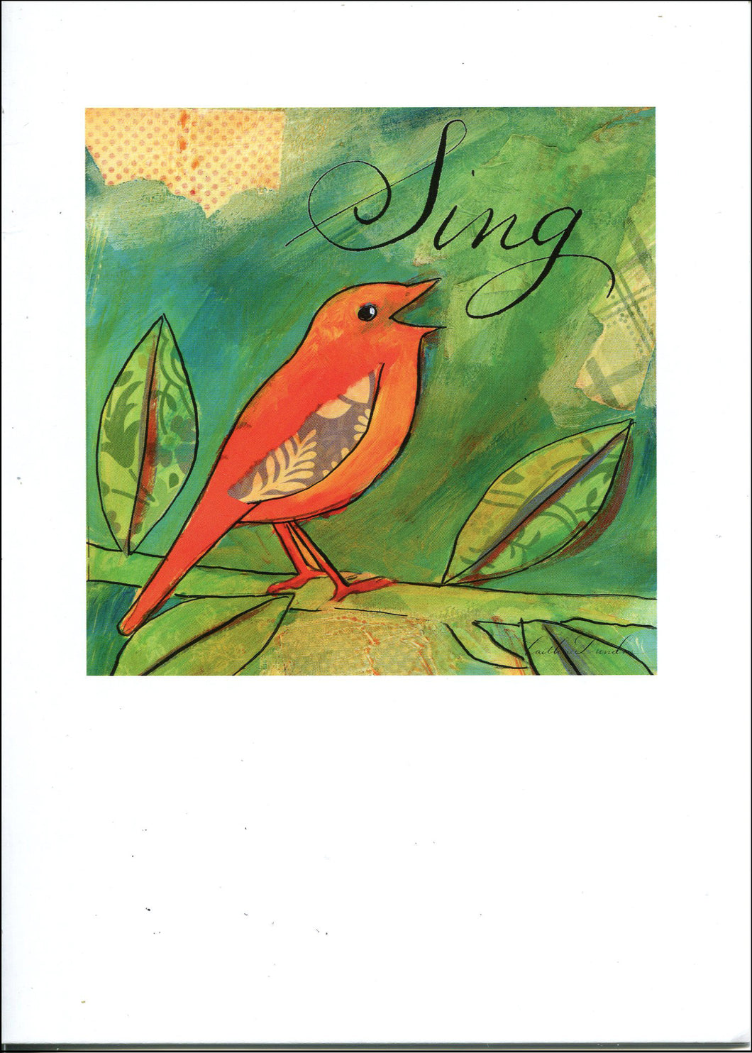 Artist Greeting Cards - Little Bird Says Sing SALE