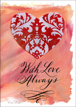 Set of 10 5x7 Greeting Cards - With Love Always Heart SALE