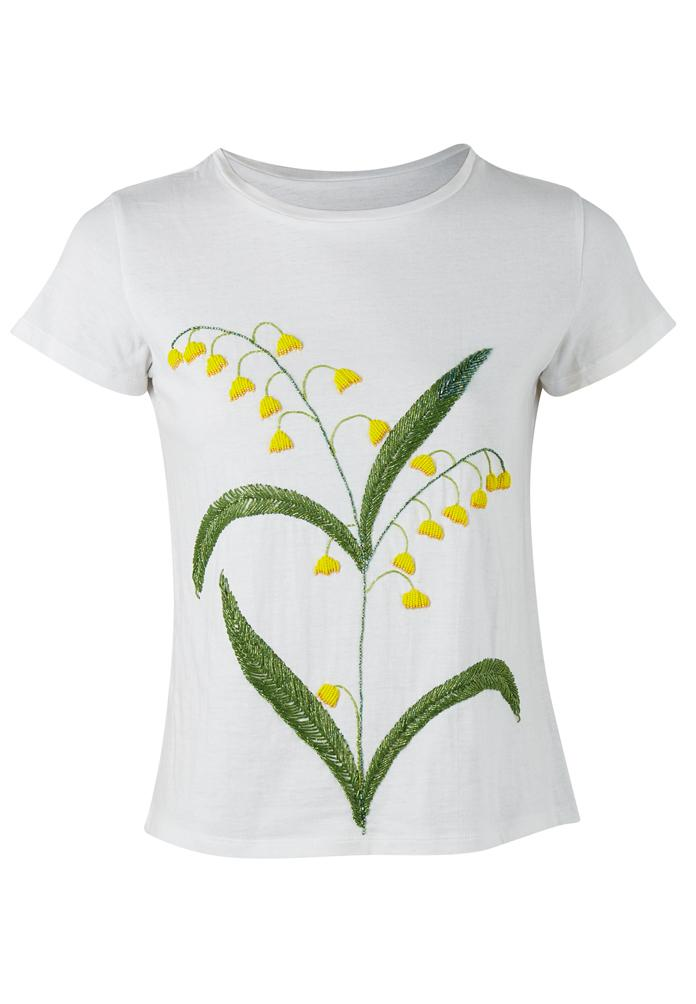 Cameron Tee with Yellow Blooms