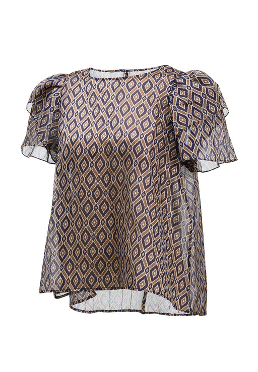 Ikat Short Sleeve Blouse