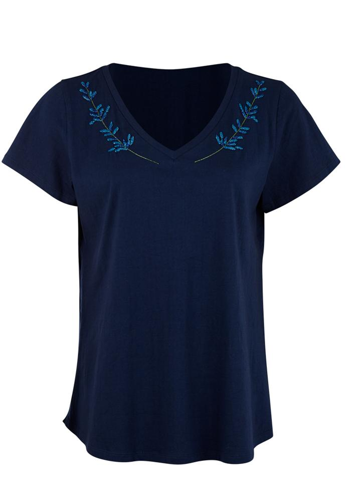 Mini Tee with Floral Detailing