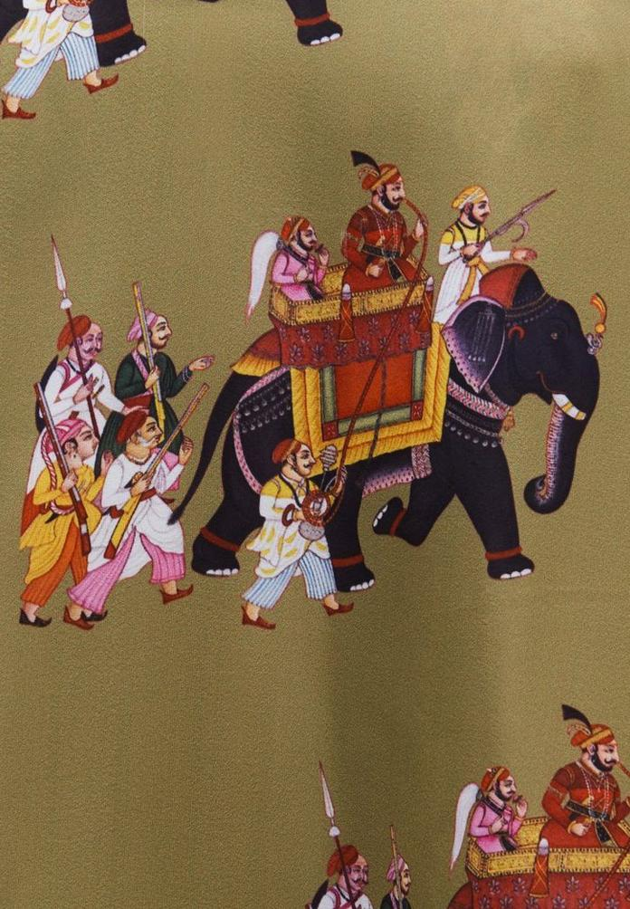 Sathi Slip Dress with Elephants