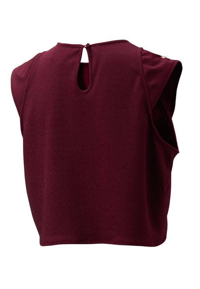 Serena Blouse in Plum