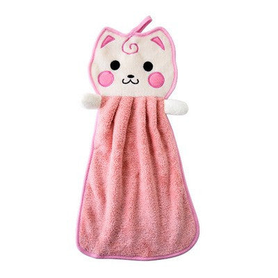Cat hanging towel