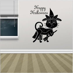 Witch Cat Wall Sticker