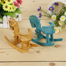 Lovely Mini Handmade Wooden Horse Creative Gifts Desk Decoration Animals Figurines Ornaments
