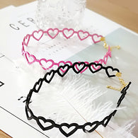 Hollow Heart Flocking Collar