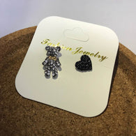 Crystal bear earrings