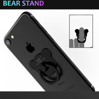 Cute Bear Finger Ring Buckle Holder Stand