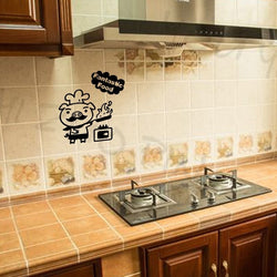Kitchen Decor Wall Stickers Pig Cook Pattern Decorative Wall Stickers Cute Cartoon Wall Stickers