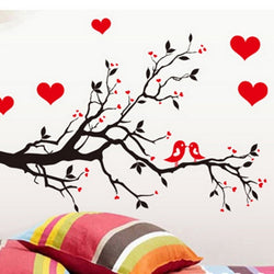 Love Tree Birds PVC Removable Waterproof Wall Stickers Living Room Bedroom Home Decor Wall Sticker