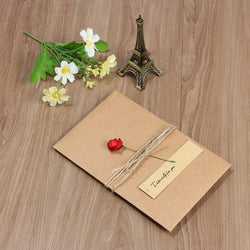 Kraft Paper Greeting Card Gift with Envelope