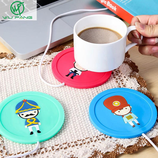 Cartoon creative silicone USB cup warmer Pad