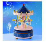 Merry-Go-Round Carousel Wooden Music Box