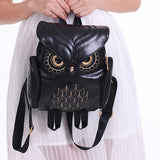 Owl Leather Backpack
