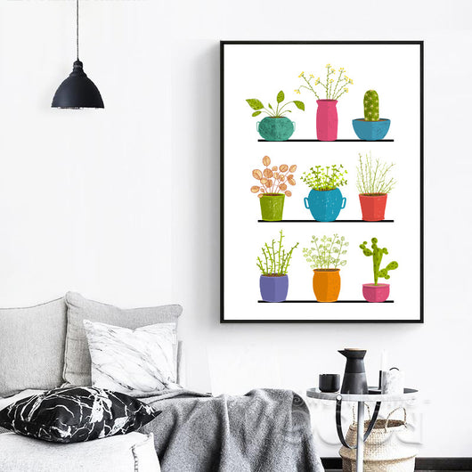 Pot Plant Canvas Art Print Poste