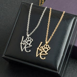 I Love Paw Necklace