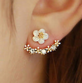 Rhinestone Flower Temperament Earrings