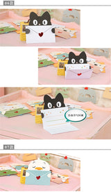 9 sets Cartoon animal envelope message card