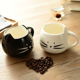 Ceramic Cat Mug White Mug