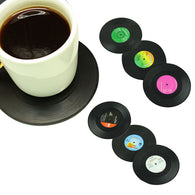 6pcs/set Vintage Vinyl Record Beverage Coasters Anti-slip Cup Mat