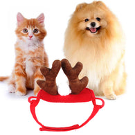 34-40 cm Adjustable Pet Dog Cat  Christmas Antlers Hats
