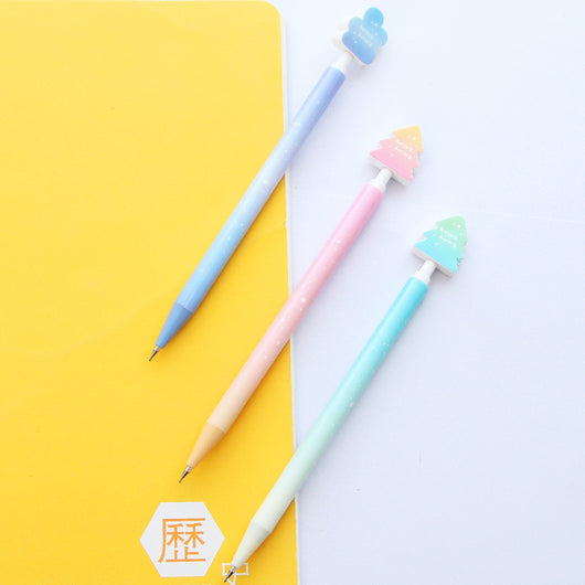 0.5 mm Sweet Starry Sky Plastic Mechanical Pencil 6pcs/lot