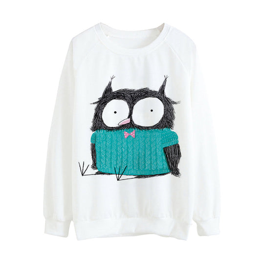 Kawaii Printed Long Sleeve Sweatshirts