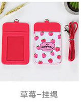 Kawaii Fruit Pattern Card Holder