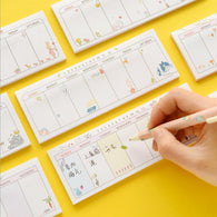 Cute Weekly Planner Schedule Memo Pad