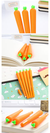 (2Pcs/lot) Cute Carrot Gel Pen