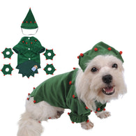 Christmas Tree Pet Dog Costume For Christmas Party